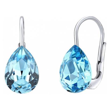 Silvego Stříbrné náušnice s modrými Swarovski® Crystals SILVEGOVSW080E