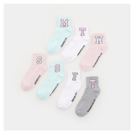 Sinsay - Sada 7 párů ponožek - Vícebarevná