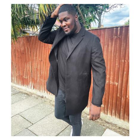 New Look Plus overcoat in black