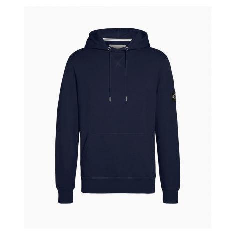 Calvin Klein pánská tmavě modrá mikina Monogram Sleeve Badge Hoodie
