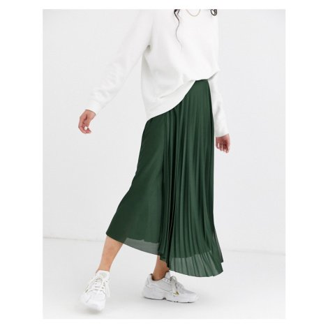 ASOS DESIGN cut about wrap pleated city maxi skirt-Multi