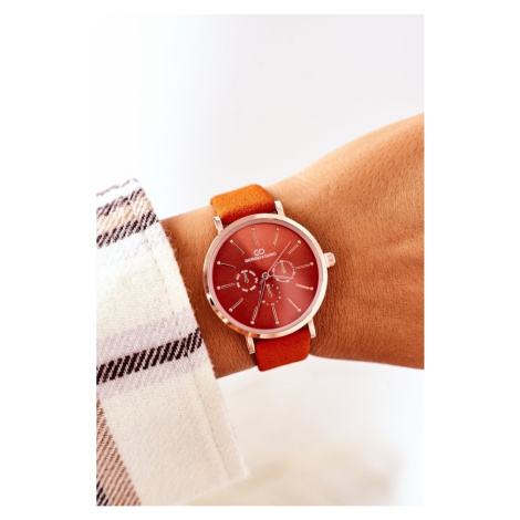 Watch On A Leather Strap Giorgio&Dario Orange Kesi