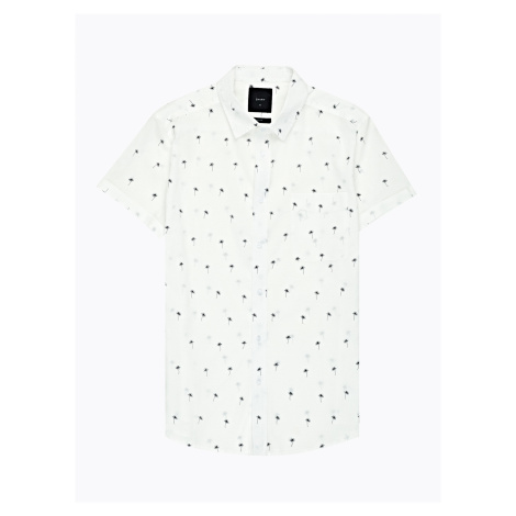 GATE Bavlněná košile slim fit s potiskem