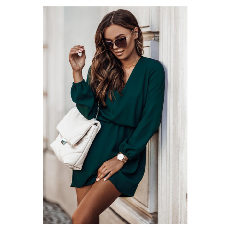 Tmavě zelené šaty Malvina IVON