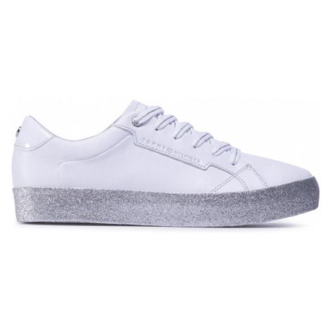 Tommy Hilfiger dámské bílé glitrové tenisky