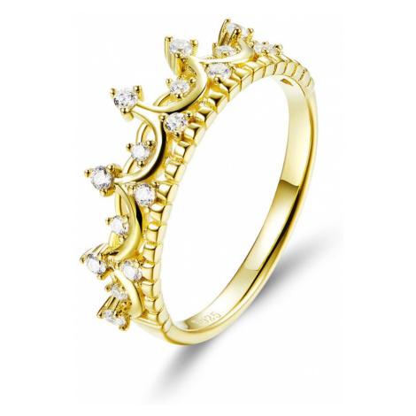 OLIVIE Stříbrný prsten ZLATÁ KORUNKA 3788