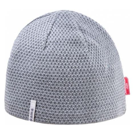 Kama AW62-109 MERINO ČEPICE šedá - Pánská pletená čepice