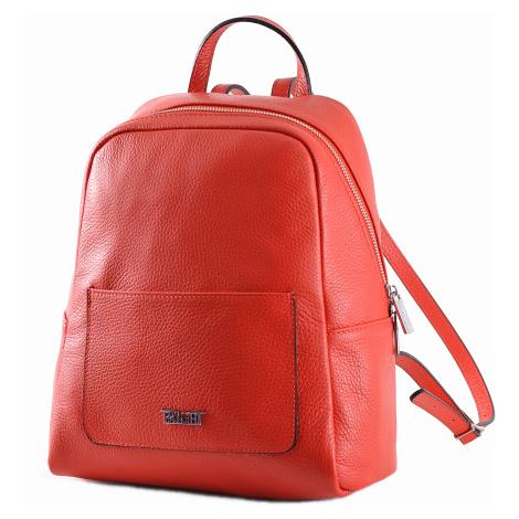BRIGHT Dámský kožený batoh s kapsou Červený, 26 x 13 x 31 (BR19-ANP8010-00DOL)