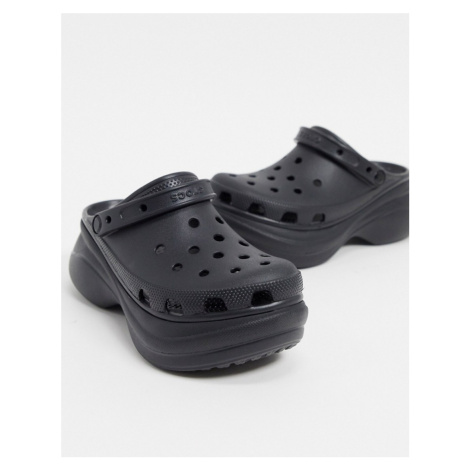 Crocs Bae platform clog in black