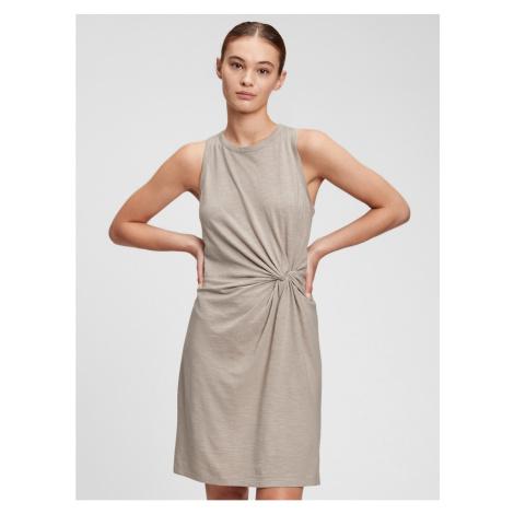 GAP Šaty sleeveless knot waist dress