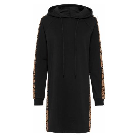 Mikinové šaty s leopardím potiskem Bonprix