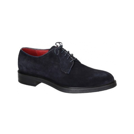 Leonardo Shoes 1010-1 PE CAMOSCIO BLU Modrá