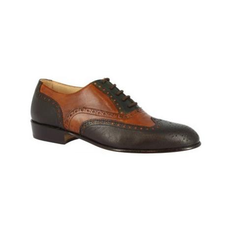Leonardo Shoes PINA 037 VERDE/CUOIO/T. MORO ruznobarevne