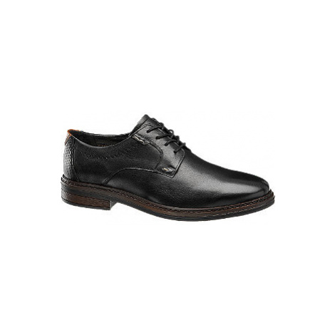 Černá kožená spoločenská obuv Claudio Conti