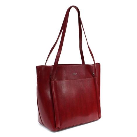 Červená dámská luxusní kabelka do ruky i přes rameno Richerre Mahel