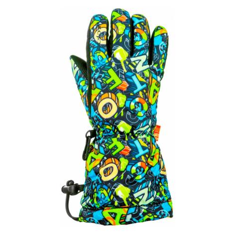 Dětské lyžařské rukavice Relax PUZZY - zelená