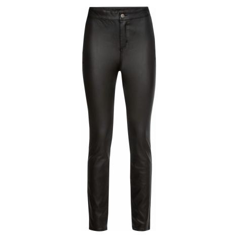 Kalhoty z umělé kůže s vysokým pasem Bonprix
