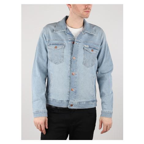 Bunda Wrangler Regular Jacket Mid Bleach Modrá
