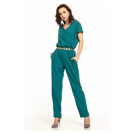 Elegantní overal s krátkým rukávem a dlouhými nohavicemi