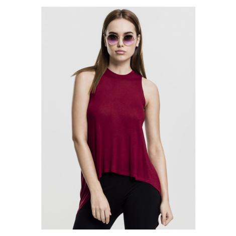 Ladies HiLo Viscose Top - burgundy Urban Classics