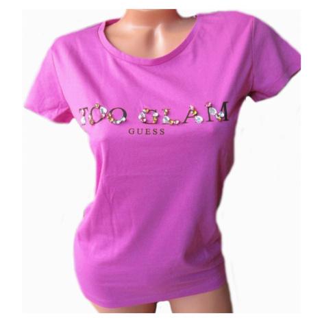 Dámské tričko Gues O92I02 fialové | fialová Guess