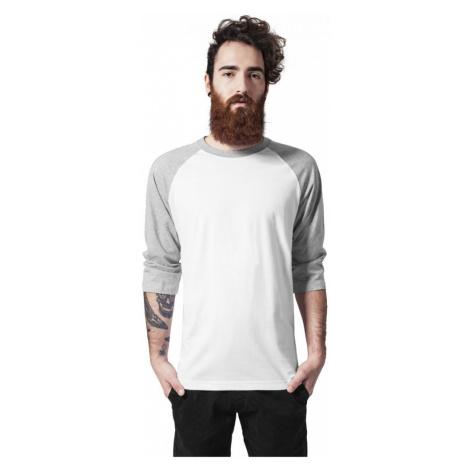 Contrast 3/4 Sleeve Raglan Tee - white/grey Urban Classics