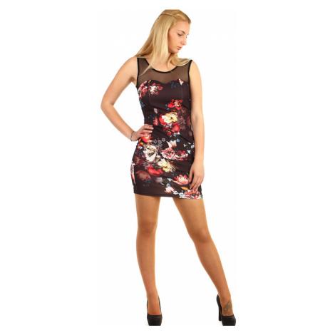 Krátké šaty s potiskem květin