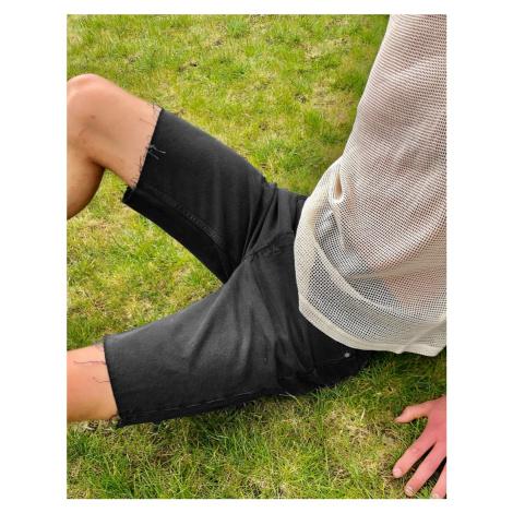 Weekday Sunday Denim Shorts Mine Black