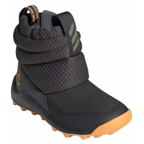 adidas RAPIDASNOW C tmavě šedá - Dětská zimní obuv