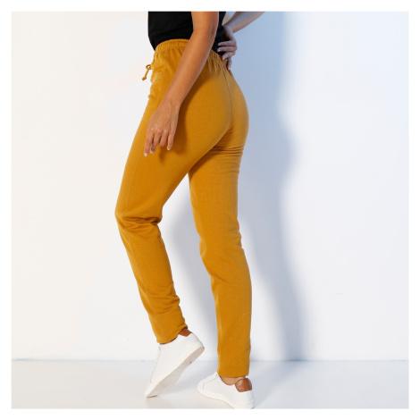Blancheporte Meltonové sportovní kalhoty medová