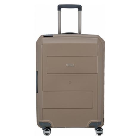 Travelite Cestovní skořepinový kufr Makro 4w M Taupe 72 l