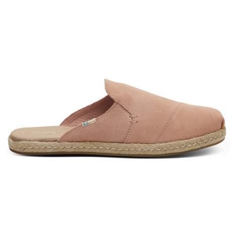 Coral Pink Suede Women Nova Espadrile Toms