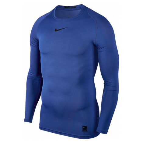 Termo tričko Nike Pro Top s dlouhým rukávem Modrá