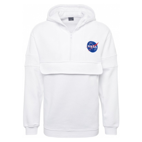 Mister Tee Mikina s kapucí 'NASA Chest Embroidery Pull Over Hoody' bílá