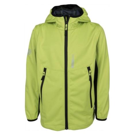 Lewro KEVIN zelená - Chlapecká softshellová bunda