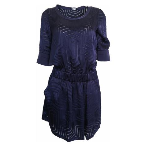 Modré saténové šaty Kookai Kookaï