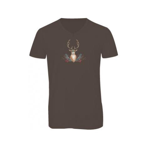 Pánské triko s výstřihem do V JELEN