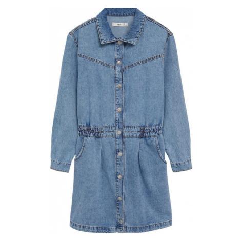 MANGO Košilové šaty 'LUNA' modrá