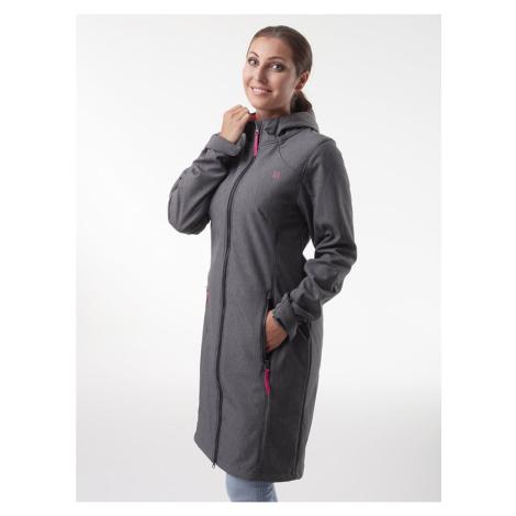 Šedý dámský softshellový kabát LOAP Lypiamel
