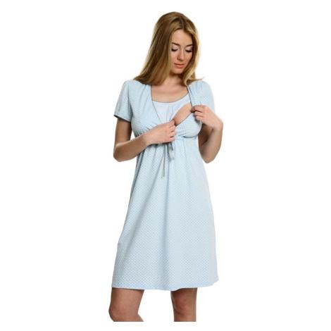 Bavlněná těhotenská noční košile Felicita modrá Italian Fashion