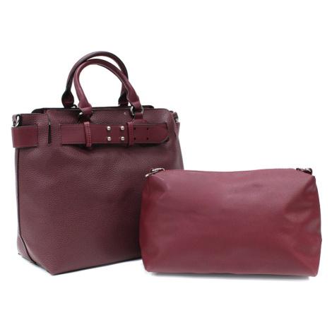 Vínově červený dámský elegantní kabelkový set 2v1 Berthe Tapple