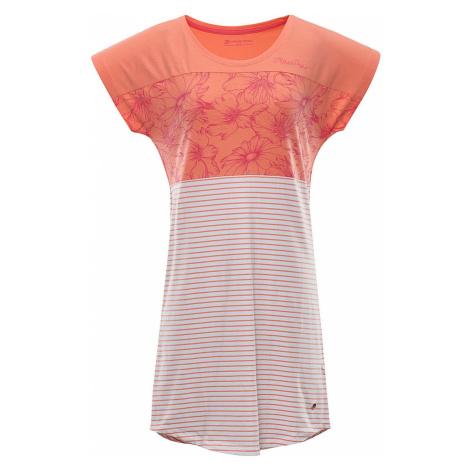 ALPINE PRO CLEYA Dámské šaty LSKR222328PA peach pink