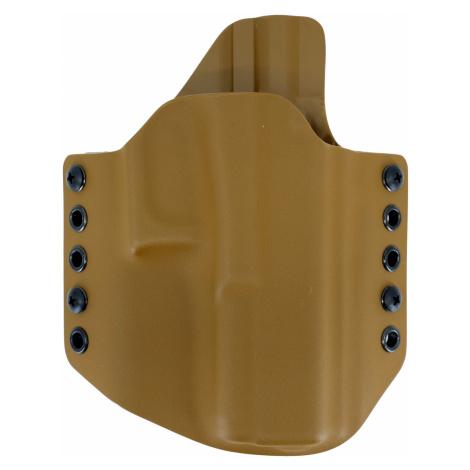 OWB Glock 17 - vnější pistolové pouzdro s polovičním SweatGuardem RH Holsters® – Coyote