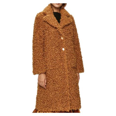 Oboustranný hnědý kabát PINKO