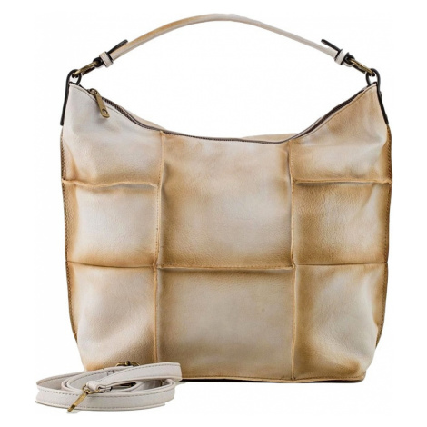 Béžová shopper kabelka BASIC