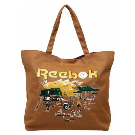 Reebok Classics Nákupní taška tmavě béžová / limone / bílá / černá / smaragdová