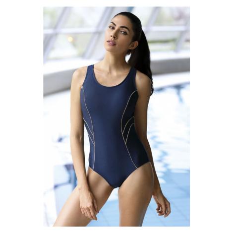 Self Zeštíhlující jednodílné plavky Phoebe tmavě modré