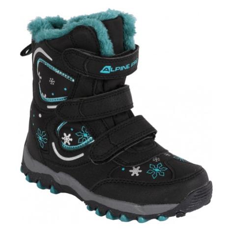 ALPINE PRO KABUNI černá - Dětská zimní obuv