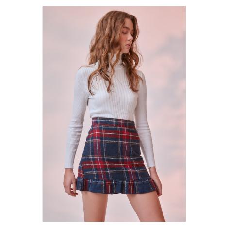 Trendyol Navy Blue Zipper Detailed Skirt