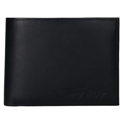 Pánská kožená peněženka Tommy Hilfiger Otto - tmavě modrá